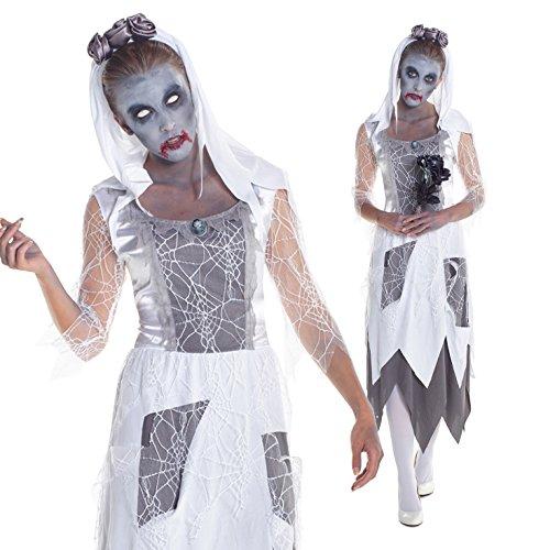 Womens Zombie Graveyard Bride Fancy Dress Costume Costume (Womens Fancy Dress Halloween Costumes)