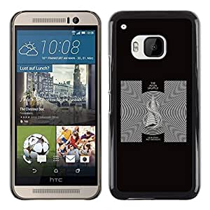 Omega Covers - Snap on Hard Back Case Cover Shell FOR HTC ONE ( M9 ) - Black & White Abstract