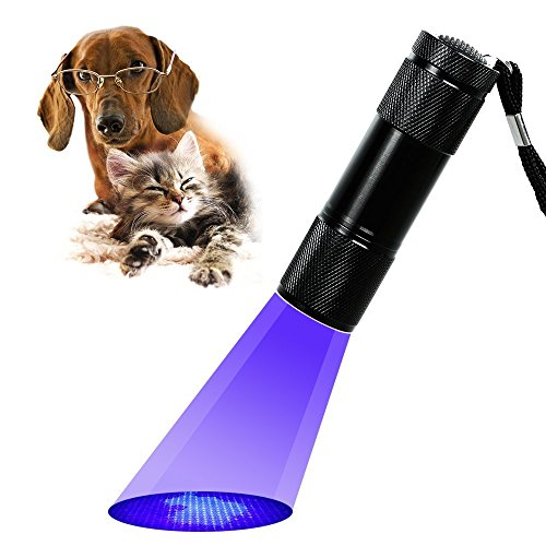 Bestgrew® Uv Ultra Violet Blacklight 9 Led Flashlight Torch Light Outdoors- Ultraviolet Led Flashlight - Blacklight Reveals Hidden Pet Stains And Urine/ Currency/Jade And Authenticate Documents Detector,Scorpions Detector