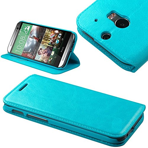 Mylife Tropical Ocean Blue {Business Design Magnetic Tab Design} Faux Leather (Card, Cash And Id Holder + Magnetic Closing) Slim Wallet For The All-New Htc One M8 Android Smartphone - Aka, 2Nd Gen Htc One (External Textured Synthetic Leather With Magnetic