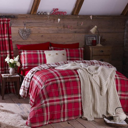 Red Duvet Cover Twin front-122401