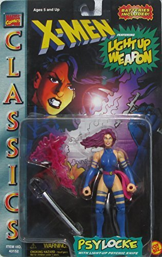 Qiyun Marvel Comics x Men Classic Light Up Weapon Psylocke Figure 035112431527
