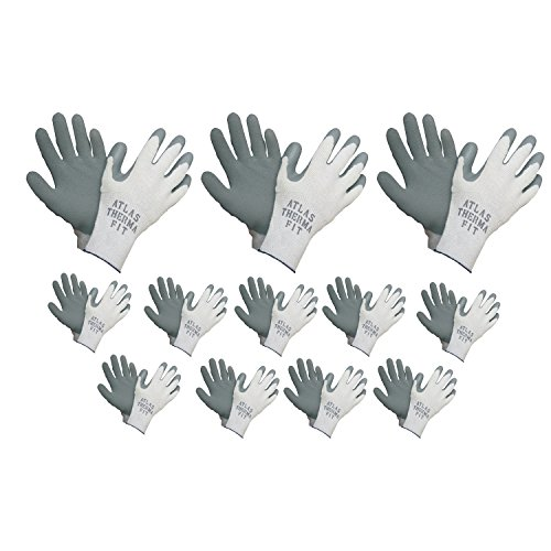 Atlas 451 Therma-Fit Cold Weather Insulated Rubber Medium Work Gloves, 24-Pairs (Atlas Thermal Fit Gloves compare prices)