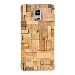 Impressive Wood Blocks Pattern Back Case Cover for Galaxy Note 4