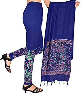 Printed Dupatta lycra leggings