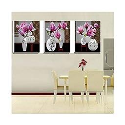 5D Magic Cube Diamond Orchid Fragrance Diamond Painting Diamond Stitch Diamond Paste Pink Vase Magnolia Denudata Flower