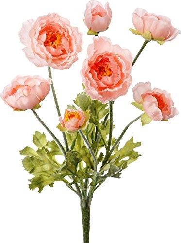 ポピー 造花 ラナンキュラスブッシュ ピンク