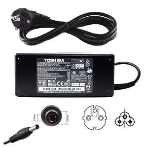 90W Original AC adaptateur secteur chargeur pour Toshiba Satellite A660 L350D L500 L500D L505 L505D L550 L550D L555 L650D L670D P200D, Satellite Pro P300D L500 L550 Notebook, alimentation pour l'ordinateur portable 19V 4,74A, compatible avec PA3716E-1AC3
