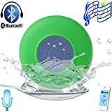 Patuoxun Waterproof Portable Wireless Bluetooth 3.0 Mini Speaker Shower Pool Car Handsfree Mic for Apple iPhone 4/4S,iPhone5/5S, iPad iPod Sumsang Galaxy S4, Note3,Tablet PC/Other Bluetooth Moblie Phone---Green Color(You can use it in your bathroom, bedr