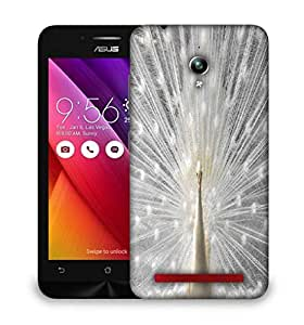 Snoogg White Peacock Designer Protective Phone Back Case Cover For Asus Zenfone GO