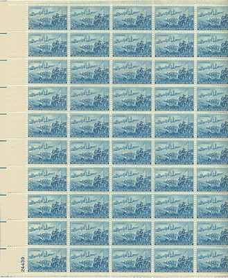 Detroit Skyline/Cadillac Landing Sheet of 50 x 3 Cent US Postage Stamps NEW