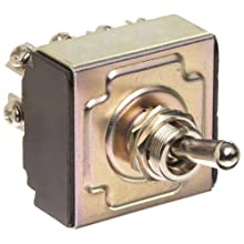 "Morris Products 70304 Toggle Switches, 4 Pole,  On/Off, 1.44"" Width, 1.31"" Length, 0.80"" Height"