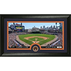 MLB Detroit Tigers Infield Dirt Coin Panoramic Mint Photo by Bullion International