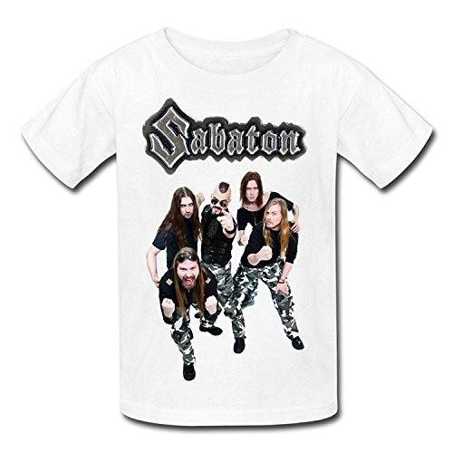 Big Boys'/Girls' Sabaton Band Music Art T-Shirt - WhiteYILIAX10633Large