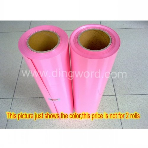 """20""""X 1 Yard(Only One Roll,Not 2 Rolls Showed In The Picture) ,T-Shirt Heat Transfer Vinyl / Film,Iron On Heat Transfer, Craft Garment, Cutting Plotter Heat Press - High Quality, Made In South Korea (Pink)"""