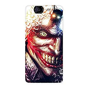 Stylish Crazy Insanity Multicolor Back Case Cover for Canvas Knight A350