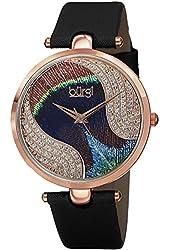 Burgi Women's BUR131BKR Analog Display Swiss Quartz Black Watch