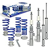 JOM 741079 Coilover suspension kit, JOM BlueLine, Fiat Grande Punto 1.2/1.4/16V/1.3D/ 1.4T-Jet/1.9D, 05-, thread/ spring