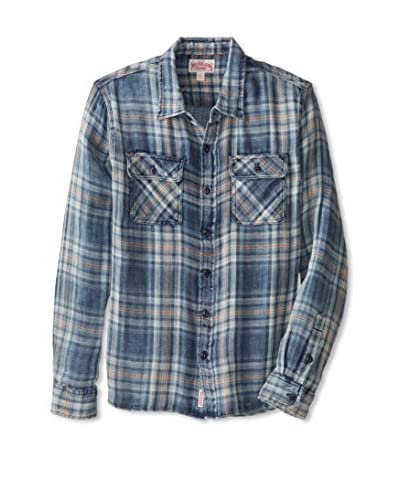 True Religion Men's Indigo Triple Needle Workwear Woven Shirt