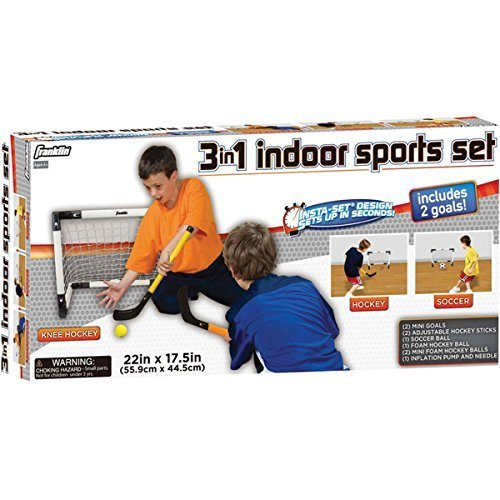 3-in-1 Indoor Sports Set This Versatile Game Comes with all the Pieces for Hockey, Soccer and Knee Hockey by Unknown