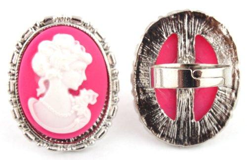 Fuchsia Mary Antoinette Metal Adjustable Finger Ring