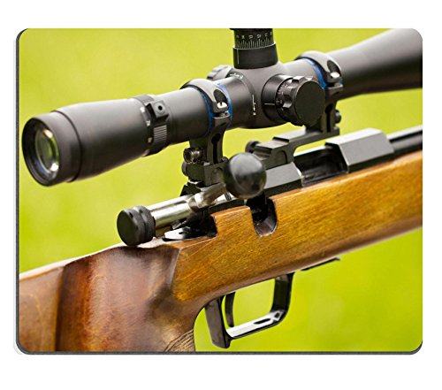 Liili Mouse Pad Natural Rubber Mousepad IMAGE ID: 13813608 A fragment of a rifle with telescopic sight
