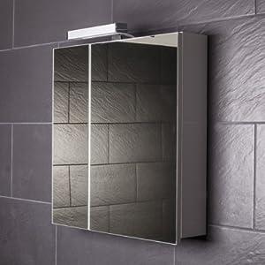 Spiegelschrank Galdem START60 / Spiegelschrank 60 cm / 2 türig / Halogen Beleuchtung / Softclose Funktion / Steckdose / Badezimmer Spiegel auch als Flurspiegel gee  Kundenbewertungen
