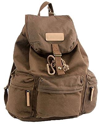 niceEshop(TM) Waterproof Canvas Camera Lens Flash Bag Backpack for DSLR Camera(Coffee)