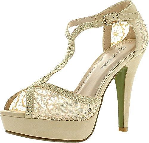 07. Top Moda Hy-5 Open Toe Crochet High Heel Sandals