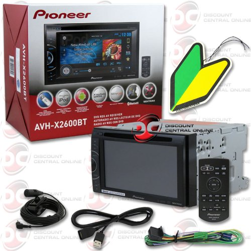 "2013 Pioneer 6.1"" Touchscreen Double Din 2Din Dvd Mp3 Cd Player Bluetooth Pandora Support + Remote With Free Squash Air Fresheners"