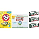 Laundry Soap Kit - Fels Naptha-3 bars, Borax & Washing Soda