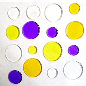 Bestofferbuy dots dot jelly gel sticker wall mirror glass for Amazon gelbsticker