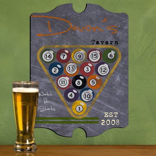 Personalized-155-Collectible-Vintage-Series-Tavern-Billiards-Pool-Hall-Balls-Room-Table-Sports-Man-Cave-Den-Home-Bar-Lounge-Pub-Sign-Chalkboard-Like-Background