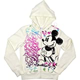 Disney Ladies Mickey Mouse Flurries Front Zip Junior Fit Hoodie Fleece