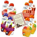 Plum Organics Baby Food Variety Pack of Fruits and Veggies 1st Foods with Article by K. Jergenson