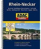 ADAC StadtAtlas Rhein-Neckar mit Bruchsal, Heidelberg, Kaiserslautern, Karlsruhe: Landau, Ludwigshafen, Mannheim, Speyer, Worms 1:20 000