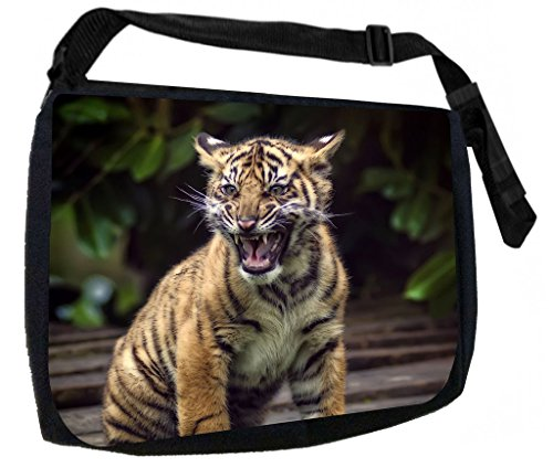 Tiger Cub-TM Laptop Messenger Bag for Laptop/Notebook Computers + Small Wire/Accessory Case SET - Made in the U.S.A.