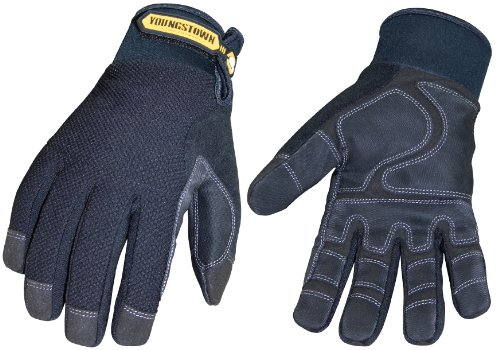 Youngstown Glove 03-3450-80-L Waterproof Winter Plus Performance Glove, Large, Black
