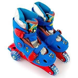 Disney Mickey Mouse Inline Skates Rollschuhe verstellbar Größe 30-33 + Tragetasche