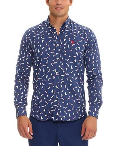 Galvanni Camisa Hombre Spiri Azul Marino