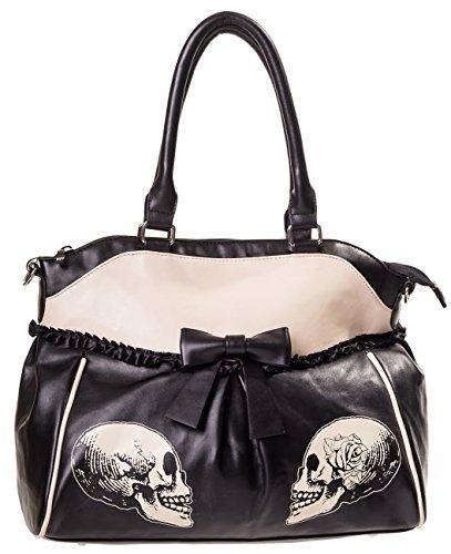 Banned Skulls & Roses Handbag black
