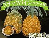 週末限定発送 沖縄産 スナックパイン(ボゴール種)2玉(1玉:約700g前後) ランキングお取り寄せ