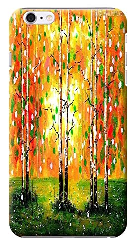 HUAHUI Case / Cover Oil Painting Special Design Colorful Trees Cute Cell Phone Cases For iPhone 6 (4.7) Black Hard Cases No.4