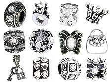 buy Timeline Trinketts Diamond Crystal Charm Bracelet Beads Fits Pandora Jewelry Rhinestone Birthstone