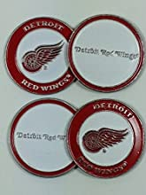 Detroit Red Wings Four 4 Golf Ball Markers - 2 sided