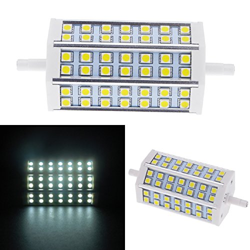 Suppion R7S 10W 42 Smd 5050 Leds Corn Light Bulb Lamp Dimmable (Pure White)