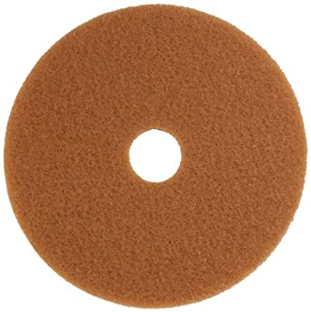 "Glit 13319 TK Polyester Blend Tan Buff Polishing Floor Pad, Synthetic Blend Resin, Talc Grit, 19"" Diameter, 175 to 350 rpm (Case of 5)"