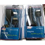 Inspire AC Home Wall Charger+CAR Charger for Microsoft Zune NEW