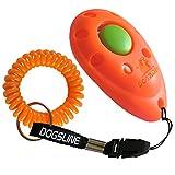 Dogsline Profi Clicker mit Spiralarmband für Clickertraining