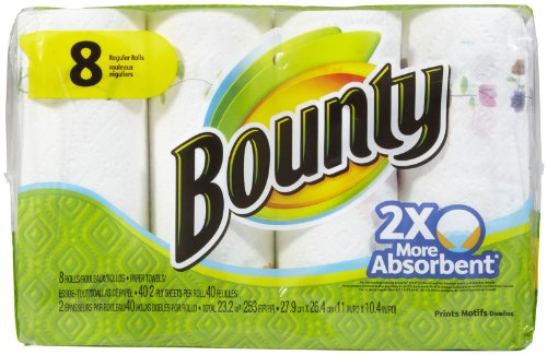 Bounty Paper Towels, Prints, Regular Roll - 8 pk металлоискатель bounty hunter discovery 2200